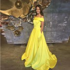 Yellow Princess Prom Dresses