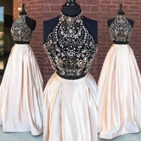 New Arrival Beadings Prom Dress,2 Pieces Prom Dresses Long ...