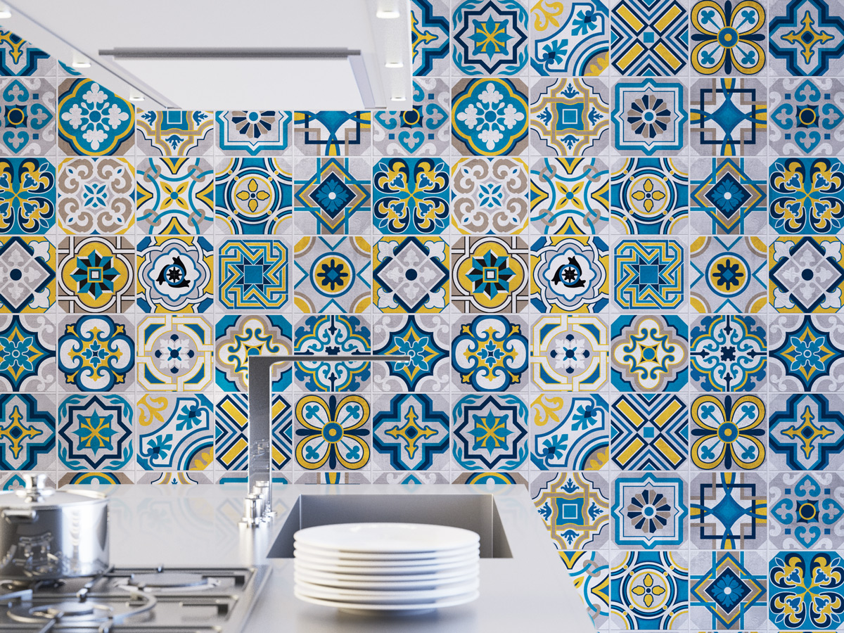 colorful tiles wall tiles floor