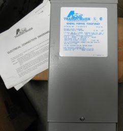 acme transformer t 2 53012 s 240 480v primary 120 240v secondary 2kva 60hz 1ph dp equipment llc [ 1599 x 2000 Pixel ]