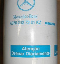 oem mercedes freightliner fuel filter separator a3760927301kz racor f1hz9365 a [ 896 x 1600 Pixel ]