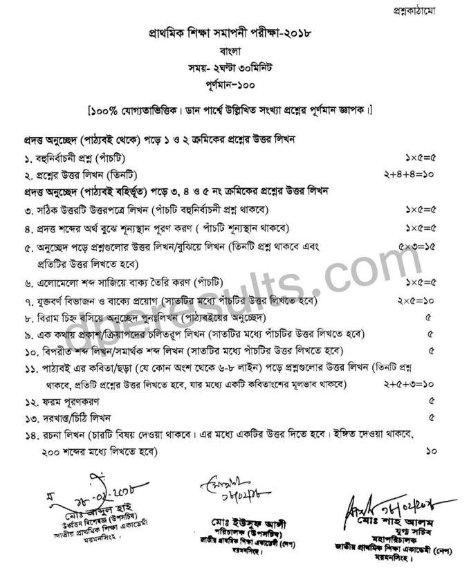 PSC Bangla Mark Distribution