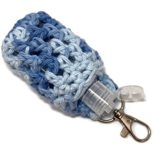 blue keychain clip