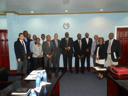 Representatives from Cheddi Jagan International Airport; Caribbean Airlines; the Guyana Civil Aviation Authority; and the Trinidad and Tobago Civil Aviation Authority following the meeting