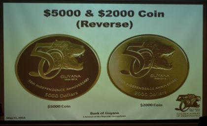 $5000 (left) and $2000  coins