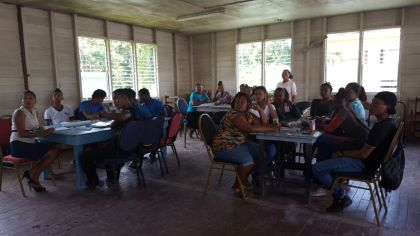 Hururu Residents participating in a capacity building session at the Capacity Building Centre, Hururu, under the HEYS INITIATIVE