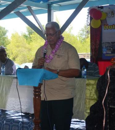 Minister Holder addressing the gathering at the 2016 Fisherfolk Day celebrations
