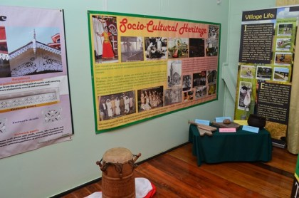 Some aspects of Guyana's socio-cultural heritage on display at the 50th Anniversary exhibition at the National Trust Building at Carmichael Street