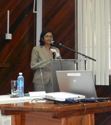 UNDP Resident Representative,Shabna Mallick while delivering remarks at the ADRM Forum .JPG-june16