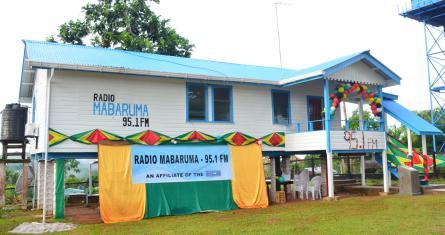 The building that houses Radio Mabaruma, Region One