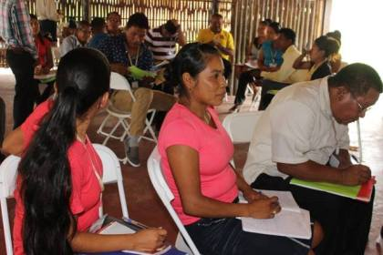 Facilitators of the Hinterland Employment Youth Services programme undergoing training