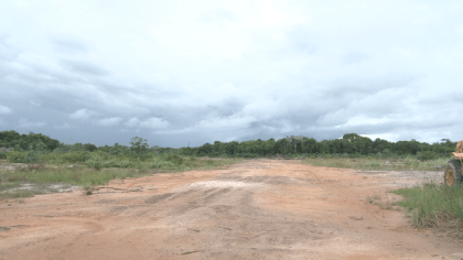 Part of the upgraded Kwakwani road