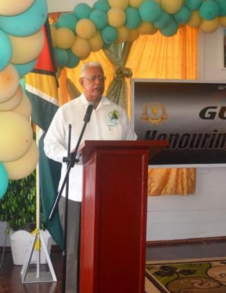 Agriculture Minister Noel Holder while delivering the feature address at GuySuCo's Honour Roll Award Ceremony