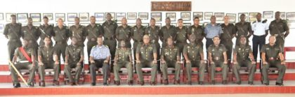 COS Brig Phillips and Senior Officers of the Force with the Training Staff and Students of the Senior Command and Staff Course