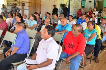 A section of the gathering at the meeting at the Bina Hill Institute, Region Nine
