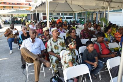 A section of the crowd at the Emancipation Day Celebrations event