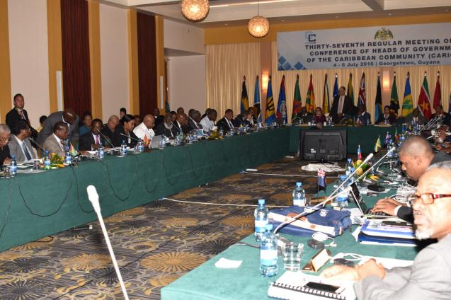 Caribbean Community (CARICOM) Leaders gathered in Georgetown for the 37th Regular Meeting of the Heads of Government Conference