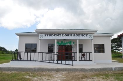 The new student loan building in the University of Guyana campus