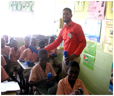GLSC-Staff-Mr.-Asib-Mohamed-engage-the-Students-of-the-Enterprise-Primary-School