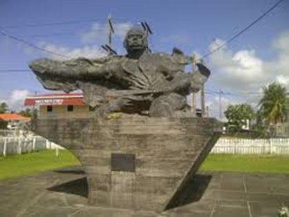 The Damon Monument, Essequibo coast