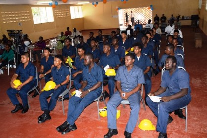 The batch that completed the heavy-duty equipment training course