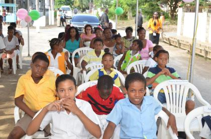 A section of the youths at the award ceremony in La Penitence