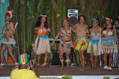 Contestants for the Miss Moruca pageant 2016 in cultural wear