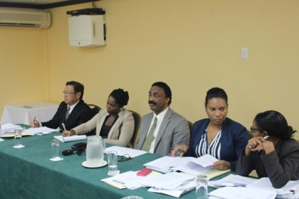 Attorney General Basil Williams at the last sensitisation meeting