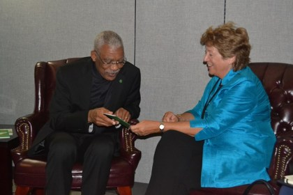 Minister of State of the Foreign and Commonwealth Office, Baroness Anelay met with President David Granger at the United Nations in New York, on the sidelines of the 71st General Assembly.