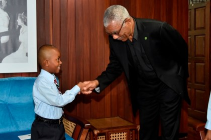 As requested-  Little Alex Garraway finally got his opportunity to meet with President David Granger