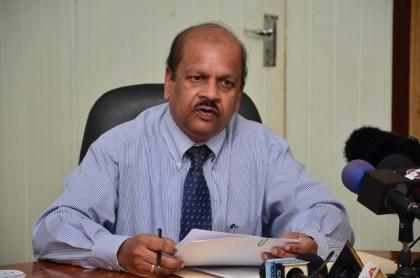 Dr. Gobind Ganga, Governor of the Bank of Guyana