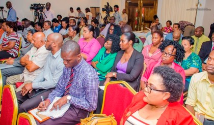 A section of the gathering at the ILO Decent Work Programme Consultation