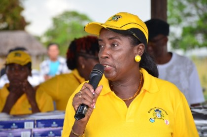 Minister within the Ministry of Communities Hon. Valerie Sharpe- Patterson