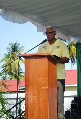 Agriculture Minister, Noel Holder while delivering remarks