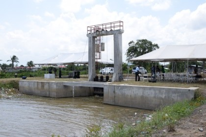 The newly commissioned Bagotville sluice