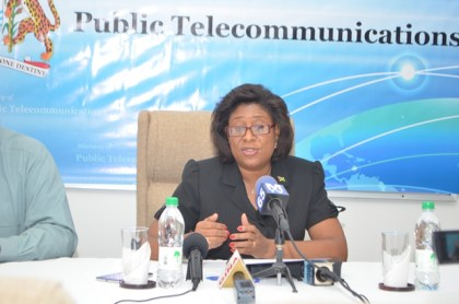 Minister of Public Telecommunication Hon. Catherine Hughes