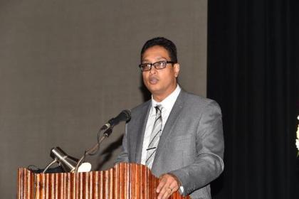 President of CANQATE, Dr. Ronald Brunton addressing the gathering