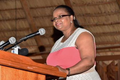 Minister of Social Protection, Ms. Volda Lawrence
