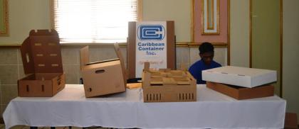 Caribbean Containers' display at the forum
