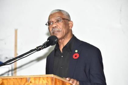 President Granger delivering his address