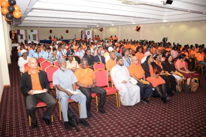 A section of the gathering at the Inter Faith service at the Ramada Princess Hotel