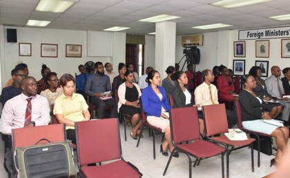Trade officials participating in the training at the Foreign Service Institute
