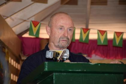 Romanex Guyana representative, Marshall Mintz