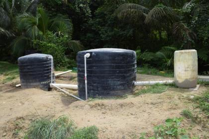 The biodigester supported by the Guyana Energy Authority and used by the Flavour Shore Farmers group
