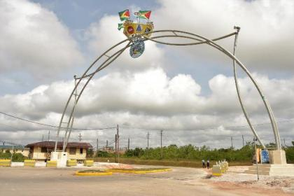 The Centennial Arch, which was constructed by Bosai Minerals Group (Guyana) Limited in celebration of the 100 years of bauxite mining in Linden
