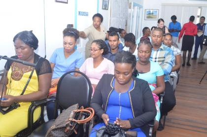 Some of the nurses attached to the Georgetown Public Hospital Corporation who would be a part of the Emergency Nursing Programme