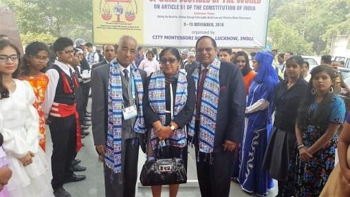 Prime Minister Moses Nagamootoo and Mrs Sita Nagamootoo with Dr. Jagdesh Ghandi