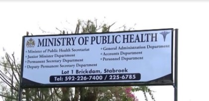 The Ministry of Public Health, Brickdam Georgetown, Guyana