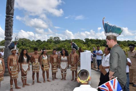 Surama cultural group welcomes Prince Harry