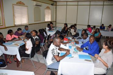 Cuban trained doctors, at the orientation session in October as they were addressed by senior health officials